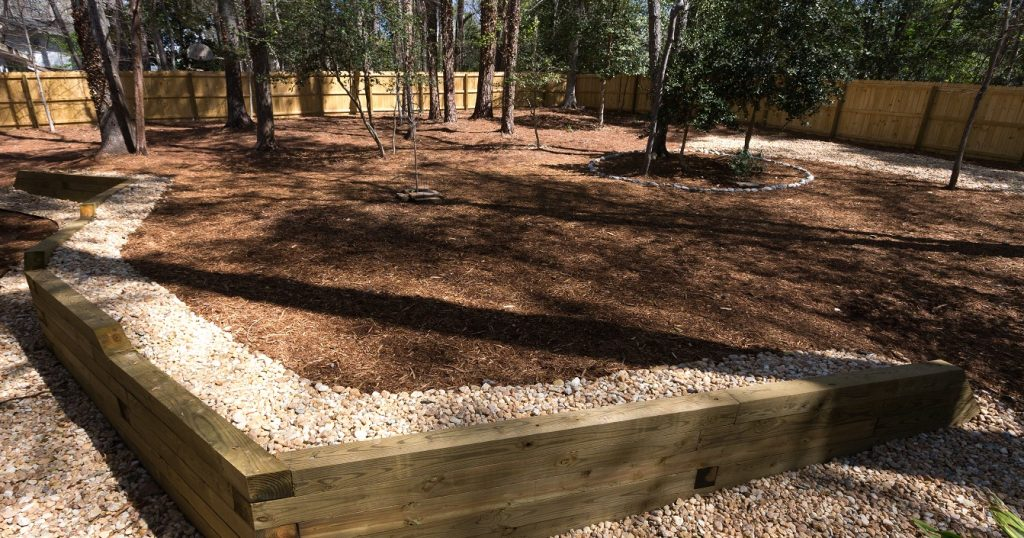 Make your lawn and yard landscape stand out with mulch in the Raleigh Durham, NC area.